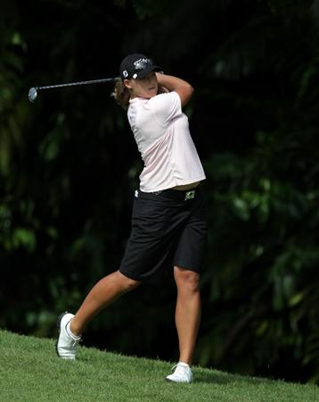 SINGAPORE - FEBRUARY 24:  Katherine Hull of Australia during the first round of the HSBC Women's Champions at Tanah Merah Country Club  on February 24, 2011 in Singapore, Singapore.  (Photo by Ross Kinnaird/Getty Images)