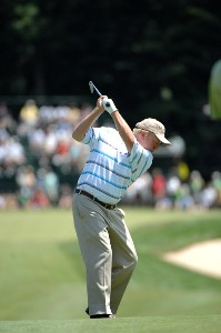 SILVIS, IL - JULY 15:  Billy Mayfair during the final round of The John Deere Classic at the TPC Deere Run on July 15, 2007 in Silvis, Illinois. (Photo by Marc Feldman/WireImage) *** Local Caption *** Billy Mayfair PGA TOUR - 2007 John Deere Classic - Final RoundPhoto by Marc Feldman/WireImage) *** Local Caption *** Billy Mayfair