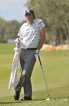 PLAYA DEL CARMEN, MEXICO - FEBRUARY 23:  Steve Marino waits to hit his approach shot into the 11th hole during the third round of the Mayakoba Golf Classic at Riviera Maya February 23, 2008 in Playa del Carmen, Quintana Roo, Mexico.  (Photo by Marc Feldman/Getty Images)