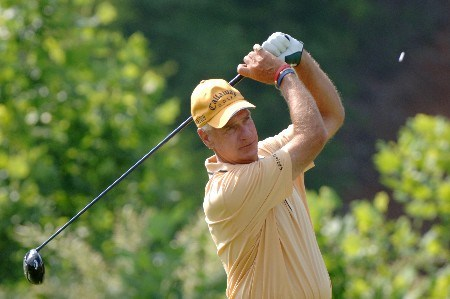 Bruce Fleisher drives from the ninth tee  during the second round of  the 2005 Bruno's Memorial Classic, May 21, in Hoover, Al.Photo by Al Messerschmidt/WireImage.com