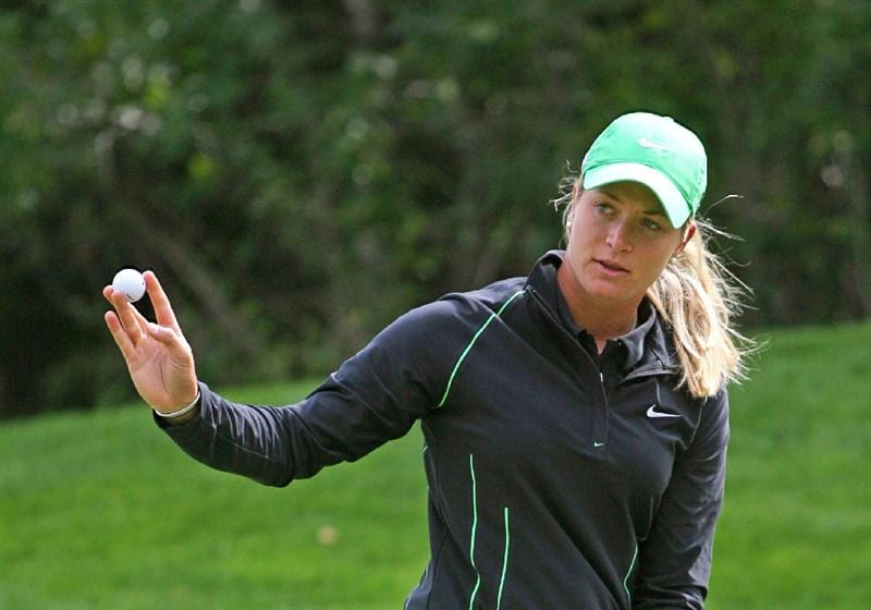CALGARY, AB - SEPTEMBER 05 :  Suzann Pettersen of Norway during the third round of the Canadian Women's Open at Priddis Greens Golf & Country Club on September 5, 2009 in Calgary, Alberta, Canada. (Photo by Hunter Martin/Getty Images)