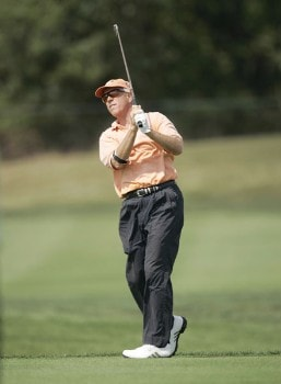 Joe Inman on the 14th hole during the first round of the 2005 Constellation Energy Classic at Hayfields Country Club in Hunt Valley, Maryland on September 16, 2005.Photo by Mike Ehrmann/WireImage.com