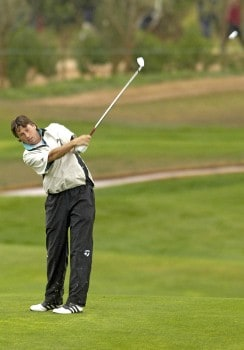Robert-Jan Derksen of Holland during the third round of the 2005 Algarve World Cup at the Victoria Golf Club in Vilamoura, Portugal on November 19, 2005.Photo by Sandy Young/WireImage.com