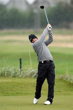 CARNOUSTIE, UNITED KINGDOM - OCTOBER 04: Philip Kaymer of Germany plays off the 18th tee during the third round of The Alfred Dunhill Links Championship at Carnoustie Golf Club on October 4, 2008 in Carnoustie, Scotland. (Photo by David Cannon/Gettyimages)