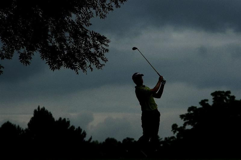 OAKVILLE, ONTARIO - JULY 23: John Merrick plays his second shot on the 16th hole during round one of the RBC Canadian Open at Glen Abbey Golf Club on July 23, 2009 in Oakville, Ontario, Canada.  (Photo by Chris McGrath/Getty Images)