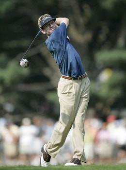 Brad Faxon during the second round of the 2005 PGA Championship at Baltusrol Golf Club in Springfield, New Jersey on August 12, 2005.Photo by Hunter Martin/WireImage.com