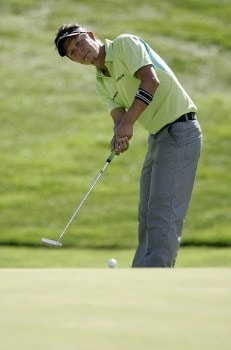 Fredrik Jacobson in action during the final round at the Reno-Tahoe Open,  August 21,2005, held at Montreux GC, Reno, Nevada.Photo by Stan Badz/PGA TOUR/WireImage.com