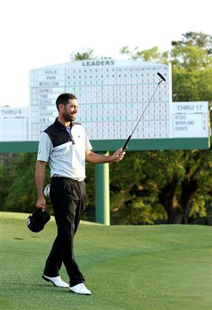 AUGUSTA, GA - APRIL 07:  Alvaro Quiros of Spain walks off the 18th green during the first round of the 2011 Masters Tournament at Augusta National Golf Club on April 7, 2011 in Augusta, Georgia.  (Photo by Andrew Redington/Getty Images)