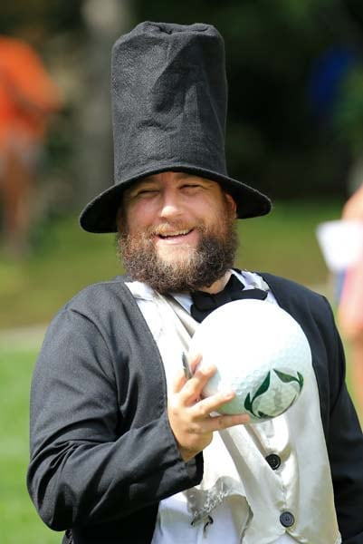 Presidents Cup fan in Abe Lincoln costume