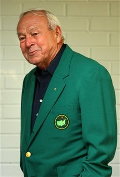 AUGUSTA, GA - APRIL 09:  Arnold Palmer walks near the clubhouse during the third day of practice prior to the start of the 2008 Masters Tournament at Augusta National Golf Club on April 9, 2008 in Augusta, Georgia.  (Photo by Andrew Redington/Getty Images)