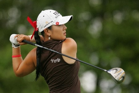 MT. PLEASANT, SC - JUNE 01:  Jeong Jang of South Korea hits a shot on the fourth hole during the second round of the Ginn Tribute hosted by ANNIKA at RiverTowne County Club on June 1, 2007 in Mt. Pleasant, South Carolina.  (Photo by Scott Halleran/Getty Images)