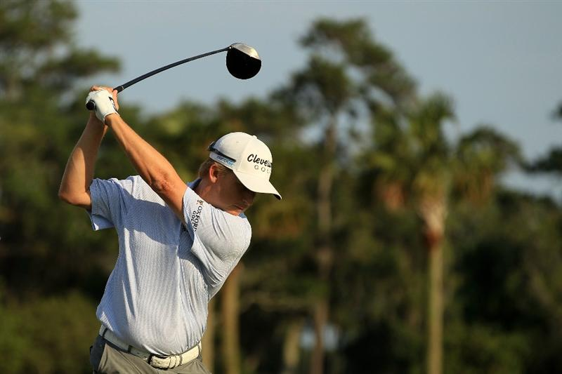 PONTE VEDRA BEACH, FL - MAY 14:  David Toms hits a shot on the practice ground during the third round of THE PLAYERS Championship held at THE PLAYERS Stadium course at TPC Sawgrass on May 14, 2011 in Ponte Vedra Beach, Florida.  (Photo by Streeter Lecka/Getty Images)