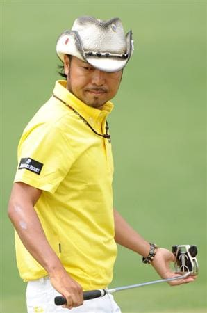 AUGUSTA, GA - APRIL 11:  Shingo Katayama of Japan walks across the second green during the third round of the 2009 Masters Tournament at Augusta National Golf Club on April 11, 2009 in Augusta, Georgia.  (Photo by Harry How/Getty Images)