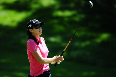 OTTAWA - AUGUST 15:  Nicole Castrale makes an approach shot on the 10th hole during the second round of the CN Canadian Women's Open at the Ottawa Hunt and Golf Club on August 15, 2008 in Ottawa, Ontario, Canada.  (Photo by Robert Laberge/Getty Images)