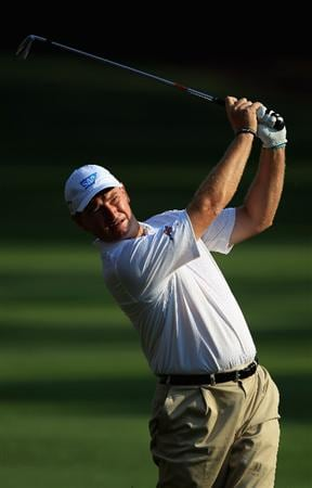 HILTON HEAD ISLAND, SC - APRIL 21:  Ernie Els of South Africa hits a shot from the fairway on the 11th hole during the first round of The Heritage at Harbour Town Golf Links on April 21, 2011 in Hilton Head Island, South Carolina.  (Photo by Streeter Lecka/Getty Images)