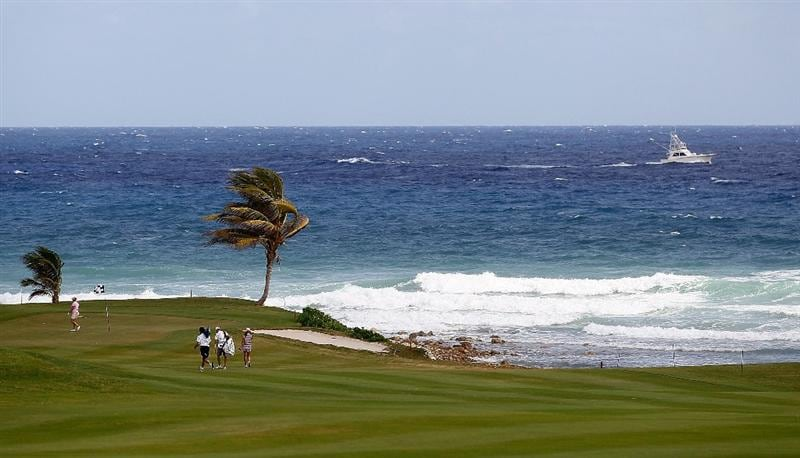 MONTEGO BAY, JAMAICA - APRIL 15:  Cristie Kerr of the United States and Beatriz Recari of Spain walk onto the fifth green during the first round of The Mojo 6 Jamaica LPGA Invitational at Cinnamon Hill Golf Course on April 15, 2010 in Montego Bay, Jamaica.  (Photo by Kevin C. Cox/Getty Images)