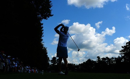 OTTAWA, ON - AUGUST 14:  Annika Sorenstam of Sweden makes a tee shot on the second hole during the first round of the CN Canadian Women's Open at the Ottawa Hunt and Golf Club on August 14, 2008 in Ottawa, Ontario, Canada.  (Photo by Robert Laberge/Getty Images)