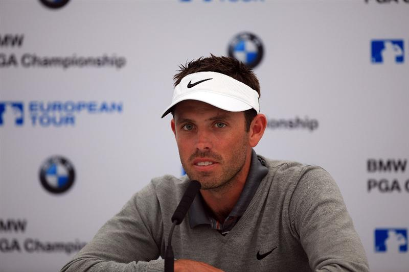 VIRGINIA WATER, ENGLAND - MAY 24:  Charl Schwartzel of South Africa during his media conference at The Wentworth Club on May 24, 2011 in Virginia Water, England.  (Photo by David Cannon/Getty Images)