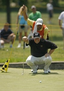 ENDICOTT, NY - JULY 15:  Craig Stadler during the final round of the Dick's Sporting Goods Open being held at En Joi Golf Club in Endicott, NY on July 15, 2007. (Photo by Mike Ehrmann/WireImage) *** Local Caption *** Craig Stadler Champions Tour - 2007 Dick's Sporting Goods Open - Final RoundPhoto by Mike Ehrmann/WireImage) *** Local Caption *** Craig Stadler