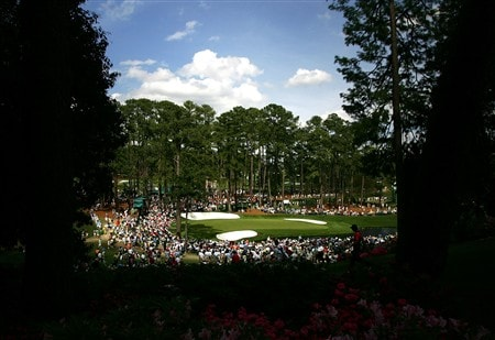 AUGUSTA, GA - APRIL 11:  Justin Rose of England walks off the sixth tee during the second round of the 2008 Masters Tournament at Augusta National Golf Club on April 11, 2008 in Augusta, Georgia.  (Photo by Harry How/Getty Images)
