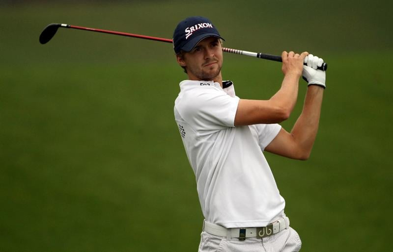 ICHEON, SOUTH KOREA - APRIL 30:  Rikard Karlberg of Sweden in action during the third round of the Ballantine's Championship at Blackstone Golf Club on April 30, 2011 in Icheon, South Korea.  (Photo by Andrew Redington/Getty Images)