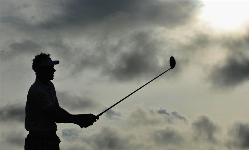 TURNBERRY, SCOTLAND - JULY 16:  Nick Dougherty of England tees off on the 3rd hole during round one of the 138th Open Championship on the Ailsa Course, Turnberry Golf Club on July 16, 2009 in Turnberry, Scotland.  (Photo by Stuart Franklin/Getty Images)