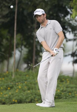 KUALA LUMPUR, MALAYSIA - APRIL 16:  Gregory Bourdy of France in action during day three of the Maybank Malaysian Open at Kuala Lumpur Golf & Country Club on April 16, 2011 in Kuala Lumpur, Malaysia.  (Photo by Ian Walton/Getty Images)