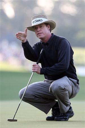 AUGUSTA, GA - APRIL 09:  Briny Baird looks over a putt on the first green during the first round of the 2009 Masters Tournament at Augusta National Golf Club on April 9, 2009 in Augusta, Georgia.  (Photo by Andrew Redington/Getty Images)