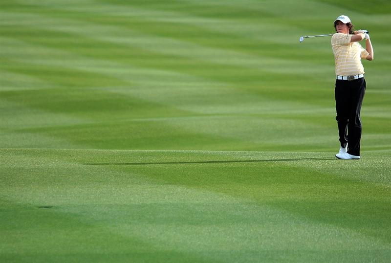 MARANA, AZ - FEBRUARY 23:  Rory McIlroy of Northern Ireland hits a shot during a practice round prior to the start of the Accenture Match Play Championship at the Ritz-Carlton Golf Club at Dove Mountain on June 6, 2009 in Marana, Arizona.  (Photo by Scott Halleran/Getty Images)