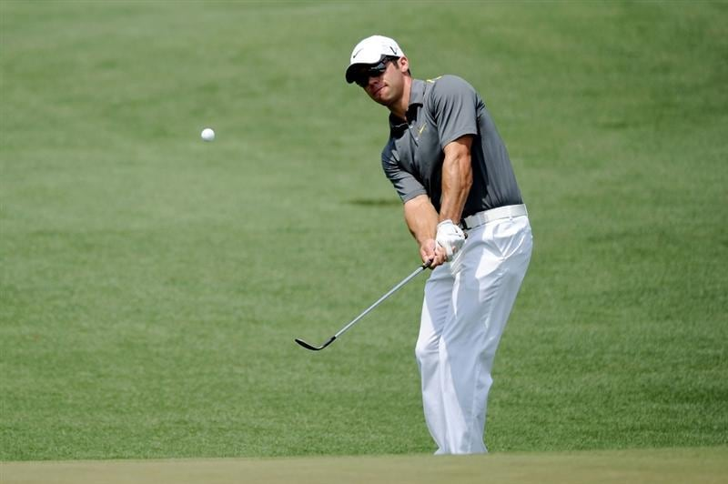AUGUSTA, GA - APRIL 09:  Paul Casey of England hits a pitch shot from the second hole during the third round of the 2011 Masters Tournament at Augusta National Golf Club on April 9, 2011 in Augusta, Georgia.  (Photo by Harry How/Getty Images)