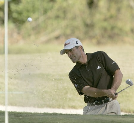 Tom Byrum in action during the first round of the Southern Farm Bureau Classic at Annandale Golf Club in Madison, Mississippi on November 3, 2005.Photo by Michael Cohen/WireImage.com