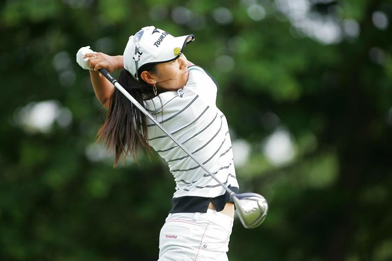 GALLOWAY, NJ - JUNE 20:  Ai Miyazato of Japan hits her drive on the 16th hole during the final round of the ShopRite LPGA Classic held at Dolce Seaview Resort (Bay Course) on June 20, 2010 in Galloway, New Jersey.  (Photo by Michael Cohen/Getty Images)