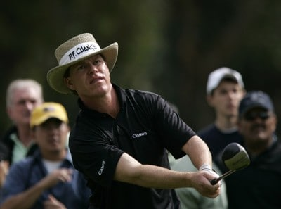 Briny Baird hits from the second tee during the final round of the PGA TOUR's 2007 NIssan Open at Riviera Country Club in Pacific Palisades, California on February 18, 2007 PGA TOUR - 2007 Nissan Open - Final RoundPhoto by Steve Grayson/WireImage.com