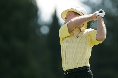Tom Kite during the third round of the 2007 JELD-WEN Tradition on the Crosswater Course at Crosswater Club at Sunriver on  August 18, 2007 in Sunriver, Oregon. Champions Tour - 2007 JELD-WEN Tradition - Third RoundPhoto by Stan Badz/PGA TOUR/WireImage.com