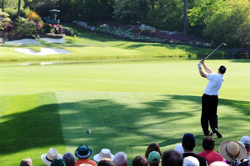 AUGUSTA, GA - APRIL 12:  Chad Campbell watches his tee shot on the 12th hole during the final round of the 2009 Masters Tournament at Augusta National Golf Club on April 12, 2009 in Augusta, Georgia.  (Photo by Harry How/Getty Images)