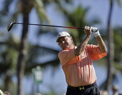 Raymond Floyd tees off on the first tee during the PGA TOUR's Wendy's Championship Skins Game, February 6, 2006 at the Wailea Golf Club in Wailea, Maui, Hawaii.Photo by Marco Garcia/WireImage.com