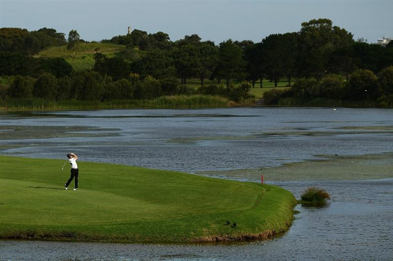 SYDNEY, AUSTRALIA - DECEMBER 03:  Stuart Appleby of Australia plays a fairway shot on the 17th hole during day two of the Australia Open at The Lakes Golf Club on December 3, 2010 in Sydney, Australia.  (Photo by Matt King/Getty Images)