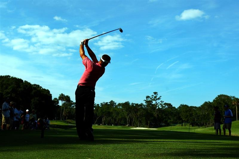 PONTE VEDRA BEACH, FL - MAY 09:  Alex Cejka of Germany plays his tee shot on the 12th hole during the third round of THE PLAYERS Championship on THE PLAYERS Stadium Course at TPC Sawgrass on May 9, 2009 in Ponte Vedra Beach, Florida.  (Photo by Scott Halleran/Getty Images)