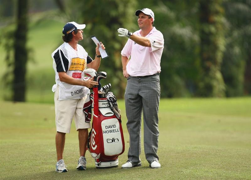 KUALA LUMPUR, MALAYSIA - FEBRUARY 13:  David Howell of England in action during the round two of the 2009 Maybank Malaysian Open at Saujana Golf and Country Club on February 13, 2009 in Kuala Lumpur, Malaysia.  (Photo by Ian Walton/Getty Images)