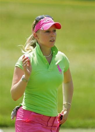 CORNING, NY - MAY 23:  Morgan Pressel of the United States on the eighth hole during the third round of the LPGA Corning Classic at the Corning Country Club held on May 23, 2009 in Corning, New York.  (Photo by Michael Cohen/Getty Images)