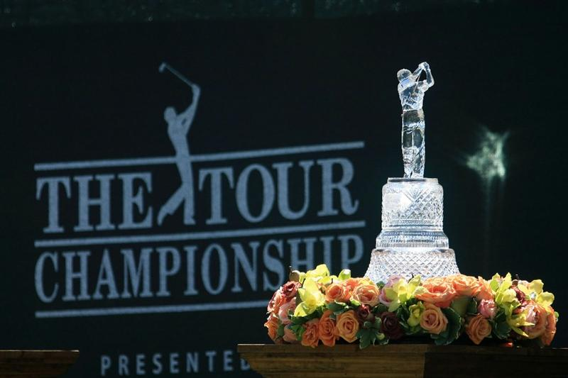 ATLANTA - SEPTEMBER 25:  THE TOUR Championship trophy displayed during the first round of THE TOUR Championship at East Lake Golf Club on September 25, 2008 in Atlanta, Georgia.  (Photo by Scott Halleran/Getty Images)