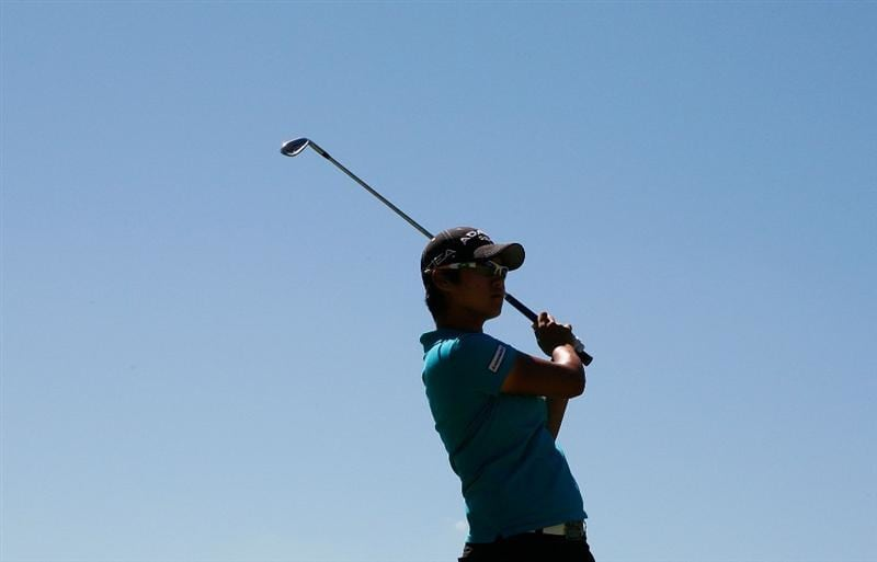 MELBOURNE, AUSTRALIA - MARCH 14:  Yani Tseng of Taiwan plays an approach shot on the 4th hole during the final round of the 2010 Women's Australian Open at The Commonwealth Golf Club on March 14, 2010 in Melbourne, Australia.  (Photo by Scott Barbour/Getty Images)