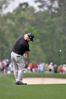 HUMBLE, TX - APRIL 5:   Charley Hoffman hits his approach shot into the 2nd hole during the third round of the Shell Houston Open at Redstone Golf Club on April 5, 2008 in Humble, Texas.  (Photo by Marc Feldman/Getty Images)