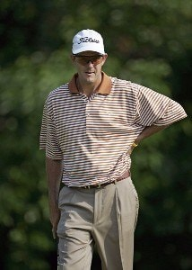 Stephen Leaney during the second round of the Cialis Western Open on the No. 4 Dubsdread course at Cog Hill Golf and Country Club in Lemont, Illinois on July 7, 2006.Photo by Michael Cohen/WireImage.com