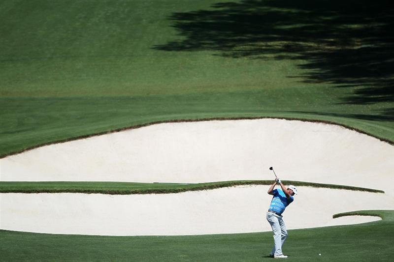 AUGUSTA, GA - APRIL 09:  Ricky Barnes plays his second shot on the eighth hole during the second round of the 2010 Masters Tournament at Augusta National Golf Club on April 9, 2010 in Augusta, Georgia.  (Photo by Jamie Squire/Getty Images)