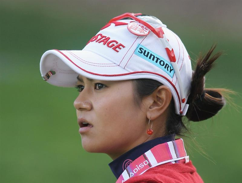 CITY OF INDUSTRY, CA - MARCH 24:  Ai Miyazato of Japan waits on the 11th green during the first round of the Kia Classic on March 24, 2011 at the Industry Hills Golf Club in the City of Industry, California.  (Photo by Scott Halleran/Getty Images)