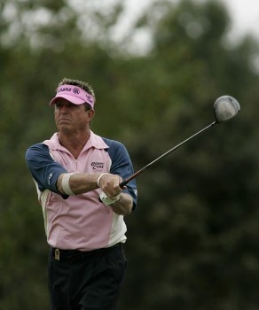 Dana Quigley in action during the third round of the Greater Hickory Classic at Rock Barn on the Jones Course  in Conover, North Carolina on October 9, 2005.Photo by Michael Cohen/WireImage.com