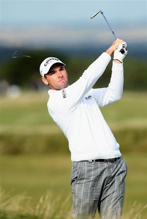ST ANDREWS, SCOTLAND - OCTOBER 05:  Oliver Wilson of England plays his second shot to the 15th green during the final round of The Alfred Dunhill Links Championship at The Old Course on October 5, 2009 in St.Andrews, Scotland. (Photo by David Cannon/Getty Images)