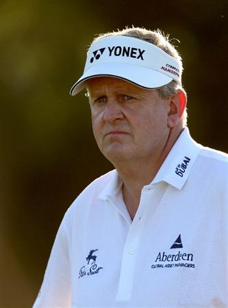 PERTH, AUSTRALIA - FEBRUARY 20:  Colin Montgomerie of Scotland waits to play his second shot at the 10th hole during the second round of the 2009 Johnnie Walker Classic tournament at the Vines Resort and Country Club, on February 20, 2009, in Perth, Australia  (Photo by David Cannon/Getty Images)
