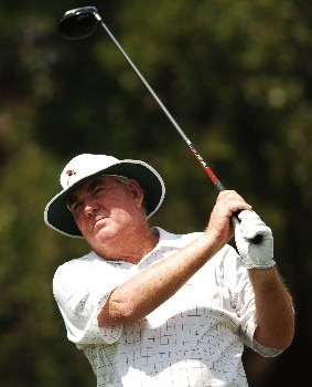 John Bland hits from the 11th tee during the first round of the FedEX Kinko's Classic at the Hills Country Club in Austin, Texas April 29, 2005.Photo by Steve Grayson/WireImage.com